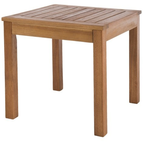 Table de salon de jardin carrée 40cm en bois d\'acacia NARLA - L 40 x l 40 x  H 40