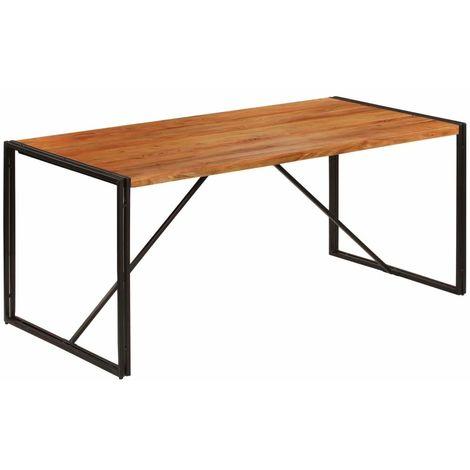 salle salon Table design de à manger finition bois acacia BdCxQrWoe
