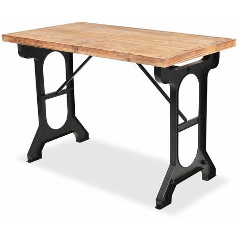 Table de salon salle à manger dîner design sapin massif ...