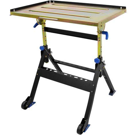 Table de soudage pliante 76x51cm table de soudure réglable en hauter 160kg