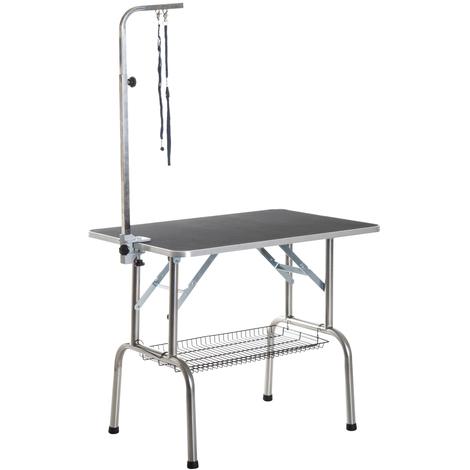 Table et pliante de toilettage panier x60x75cm potence 90 avec pSMqUVz