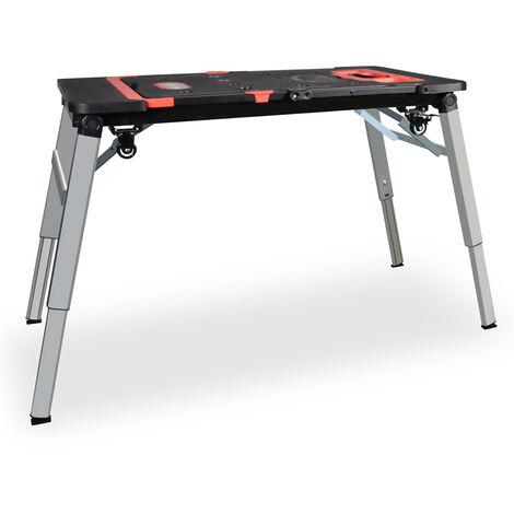 Table de travail multifonctionnelle 5en1 | table d'atelier pliante et portable | établi | support télescopique | trabattello | train de roulement | chariot à colis
