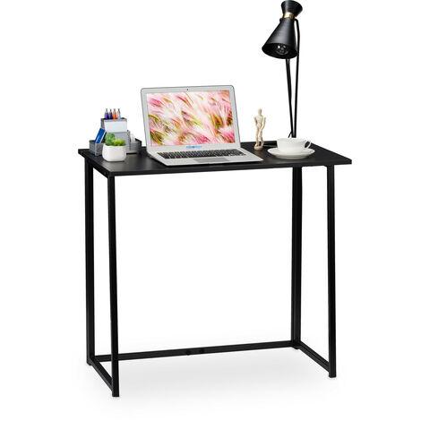 Table de travail pliable,Table de bureau,table bureau à plier, travail maison, 74x80x45cm, noir