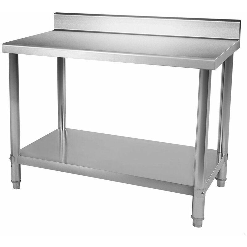Table Inox 100 60cm Plan De Travail Inox Table De Travil