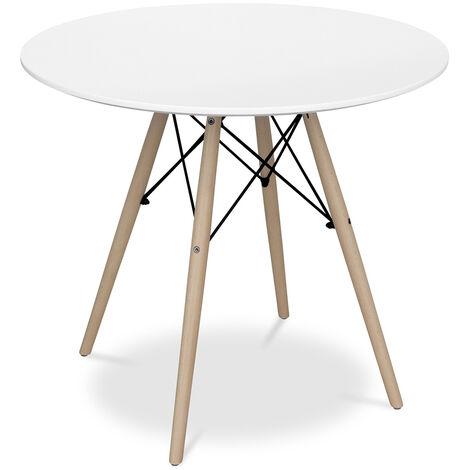 Table Deswick 80cm - Bois Blanc