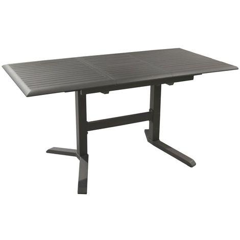 Table d'extérieur Sotta - 130 cm + allonge 50 cm - Alu - Gris