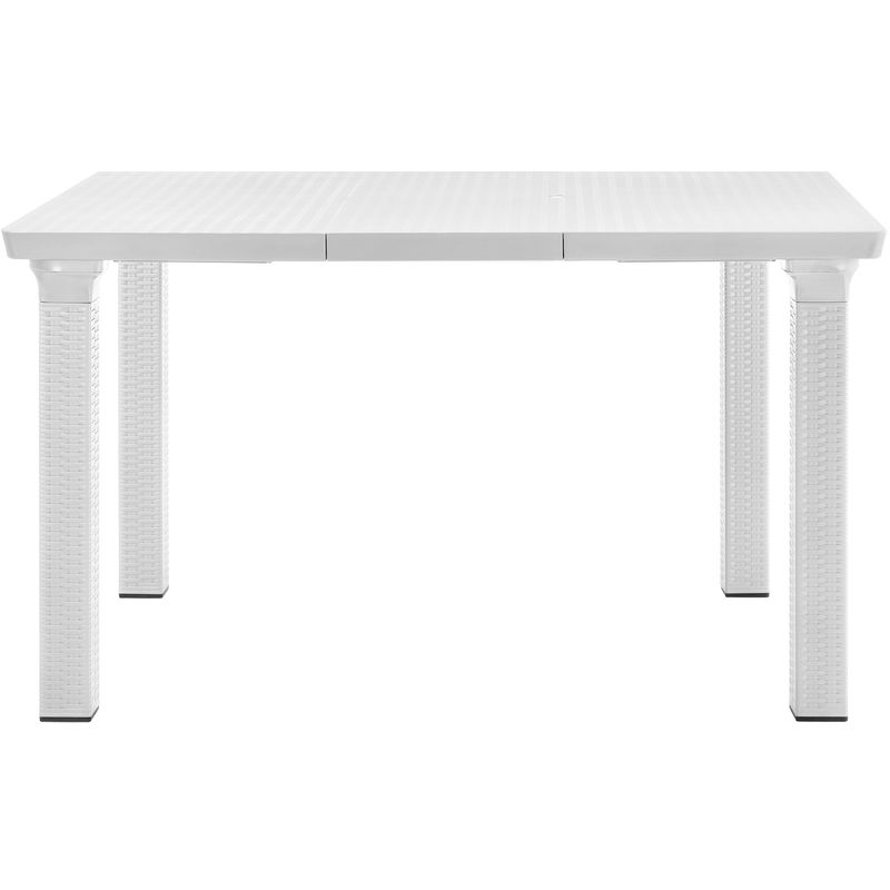 Table du jardin en aspect du rotin (Dimensions réglable) 164x95cm ...