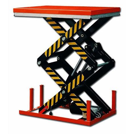 Table élévatrice électrique deux ciseaux (plusieurs tailles disponibles)