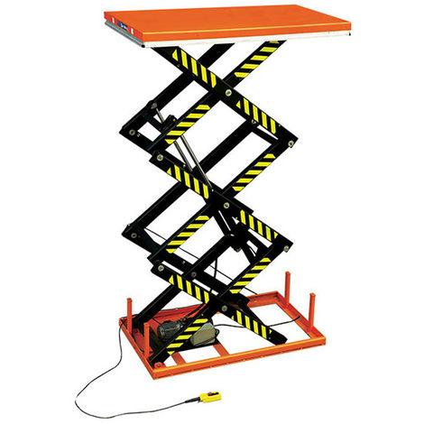 Table élévatrice électrique trois ciseaux (plusieurs tailles disponibles)