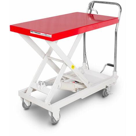Table élévatrice hydraulique mobile à ciseaux 300 kg MW-Tools WT300