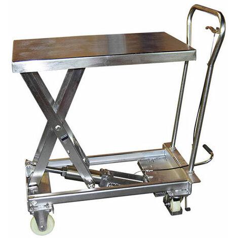 Table élévatrice Inox manuelle (plusieurs tailles disponibles)