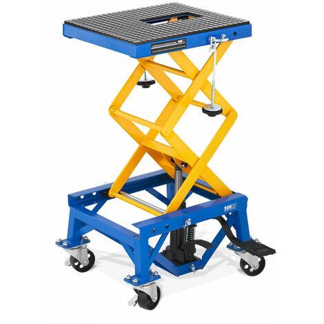 Table élévatrice mobile lève moto pont élévateur moto hydraulique plateforme de levage roulant 150 kg - Or