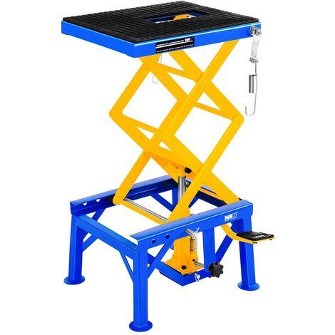 Table Elevatrice Mobile Pont Elevateur 4 Roues Freins Pedale 135 Kg 35 - 87 Cm