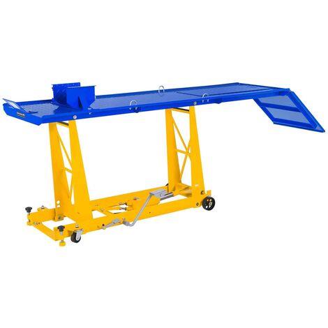 Table Elevatrice Moto Pont Elevateur Hydraulique Etau Serrage 220 X 68 Cm 450Kg