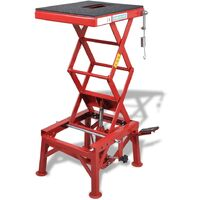 Table élévatrice rouge 135 kg