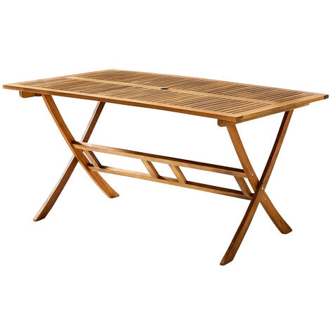 Table en bois d'acacia 150 cm