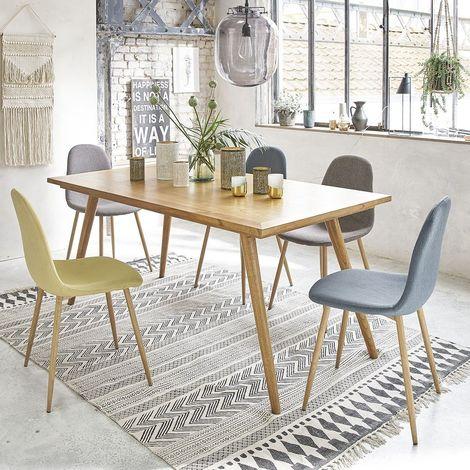 Table en bois de mindy 6 à 8 couverts - Naturel