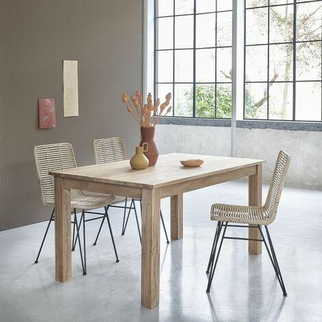 Table en bois de teck 4 à 6 couverts - Naturel