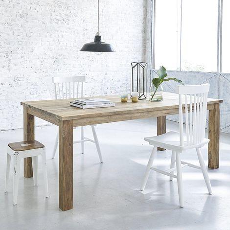 Table en bois de teck recyclé 6 à 8 couverts - Naturel