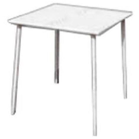 Table en fer coloris blanc - 70 x 70 cm