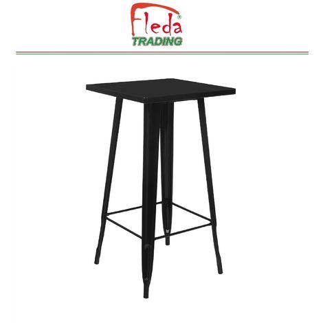 Table en métal POUR SNACKS DE STYLE INDUSTRIEL Plus N ° 2 TABOURETS TYPE TOLIX dim 60x60x103 H