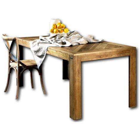 Table en orme avec plateau marqueté cm 180x90x78 Guarnieri Pioppo