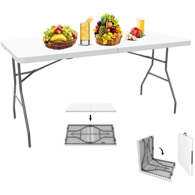 En CmBlancPliable Transportable152 Table Plastique DeuxMatériauHdpe RobustePliante X 76 DeHYWE29I