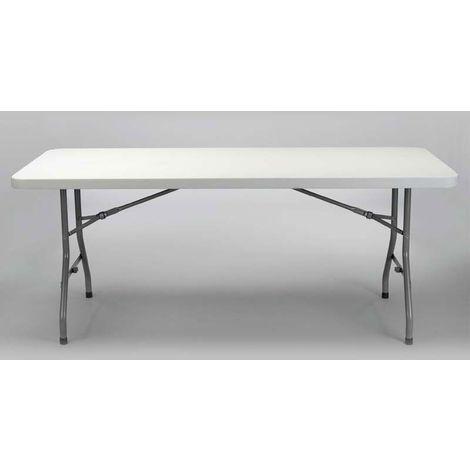 Table en polyéthylène de dimension 200x90x74 cm