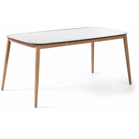 Table en teck et Duranite® 213 x 100 cm Kimito