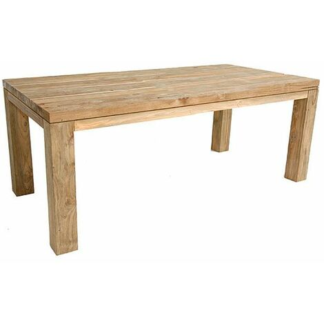 Table en teck massif recyclé 180 x 90 cm Callao