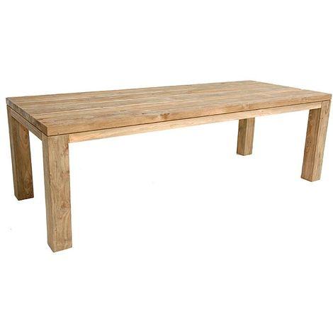 Table en teck massif recyclé 300 x 110 cm Callao