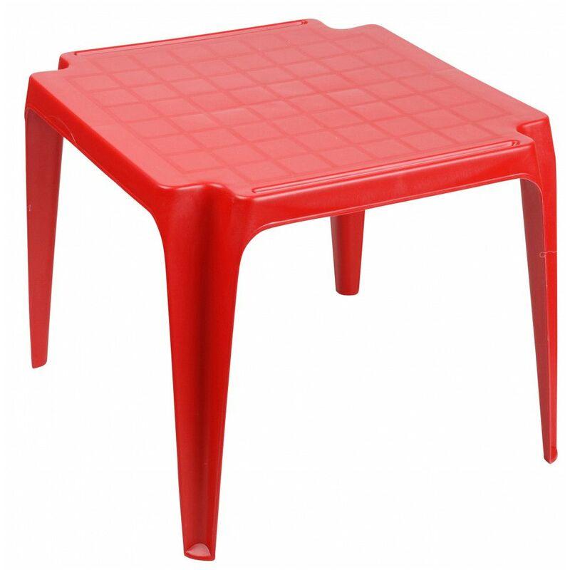 Table enfant empilable - 51 x 51 x 43 cm - Rouge - AC-DÉCO