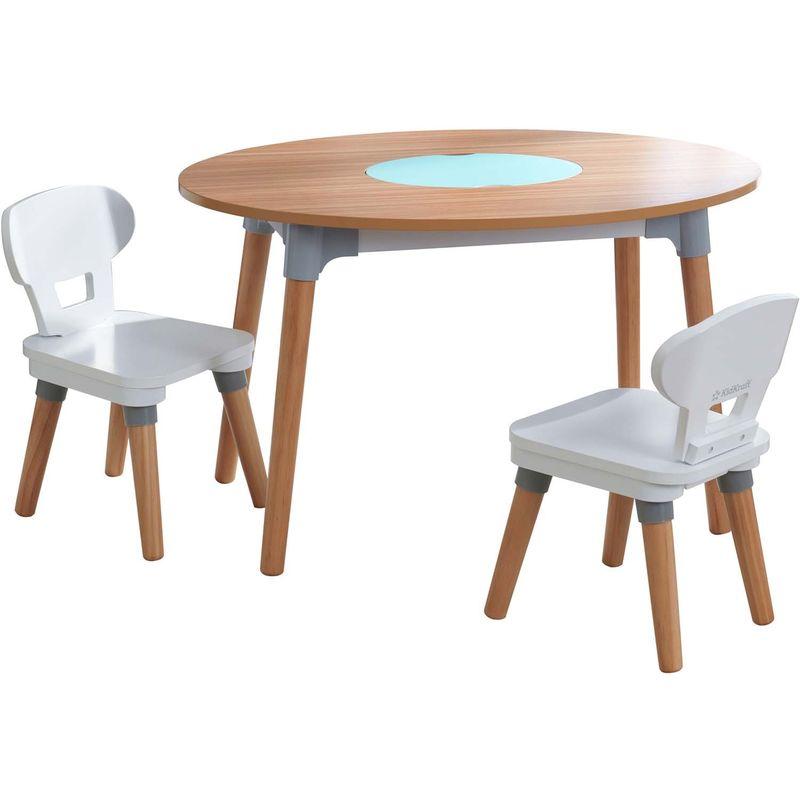 Table Et 2 Chaises Enfant En Bois Mid Century 26195