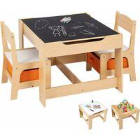 Tableau Ensemble De 2 Chaises Fonction Naturelles Enfant Transformable Avec Pour Table Et Chaise Enfants Stockage PNwn80OkX