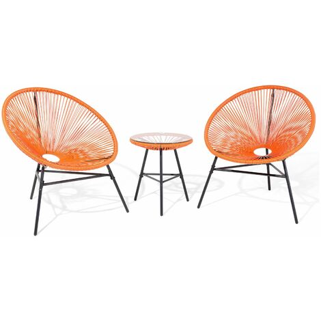 Ensemble de terrasse orange ACAPULCO - 38486