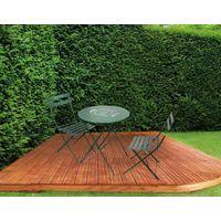Table de jardin vert à prix mini