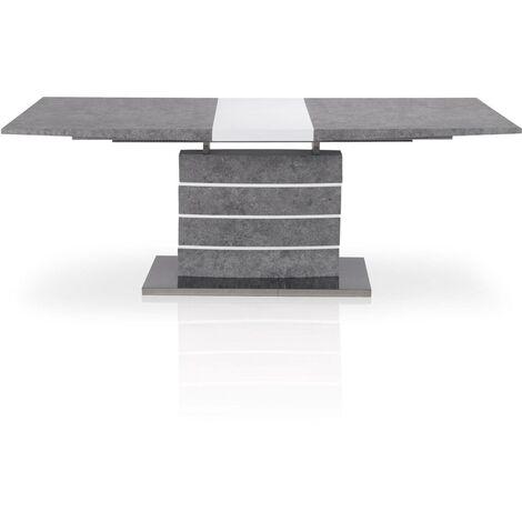 Table extensible Bilma Effet béton - Béton gris