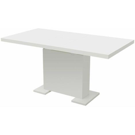 Table extensible de salle à manger Blanc brillant