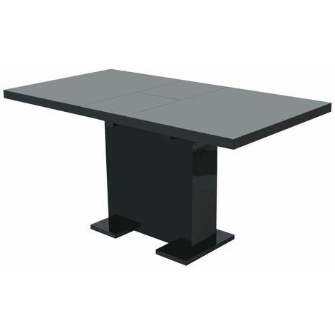 Table extensible de salle à manger Noir brillant