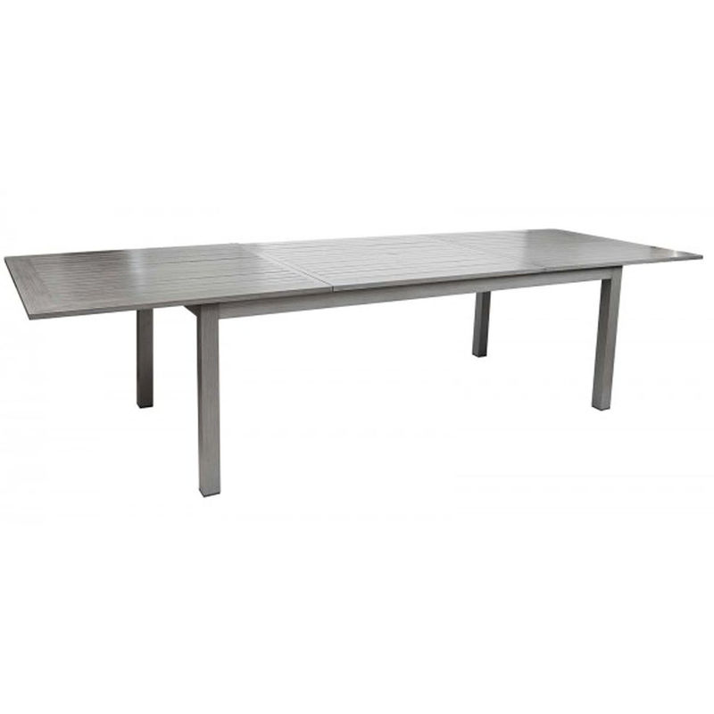 Bois En Extensible Cm Aluminium Dim200300 X 100 Pegane Imitation Table Finition 75 k80ZnPwONX