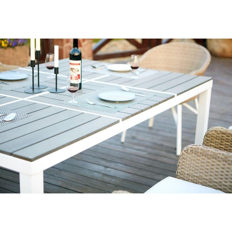 En 6 Table Structure Grise Fauteuils 90180 Aluminiumpolywood Cm Extensible htQrxsdC