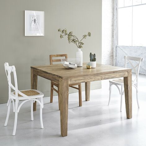 Table extensible en bois de teck recyclé 8 à 10 couverts - Naturel