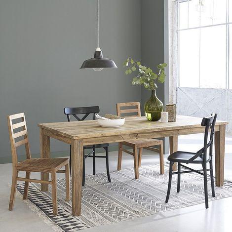 Table extensible en bois de teck recyclé 8 à 12 couverts - Naturel