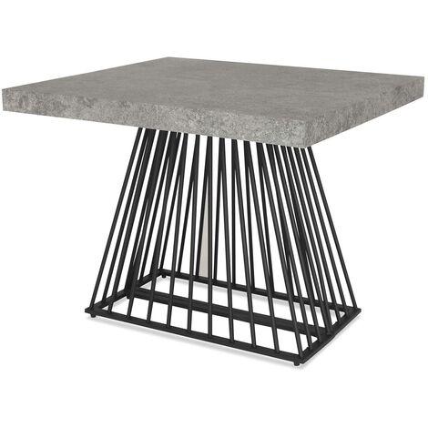Table extensible Factory Effet Béton - Béton gris