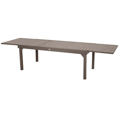 Table extensible rectangulaire alu Piazza 10/12 places Tonka - Hespéride