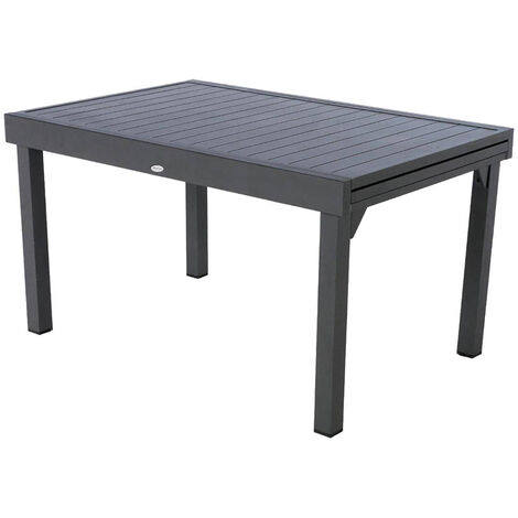 Table extensible rectangulaire alu Piazza 8/10 places Graphite - Hespéride