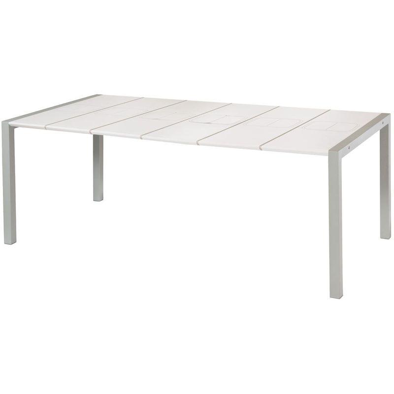 Table Exterieure 190x100 Sunday Grosfillex Blanc