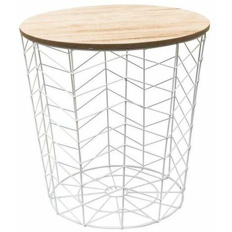 5 Table x motif chevron L l d'appoint métal 38 filaire en XwZuOPikT