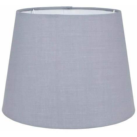 Table / Floor 25cm Tapered Lampshade - Grey