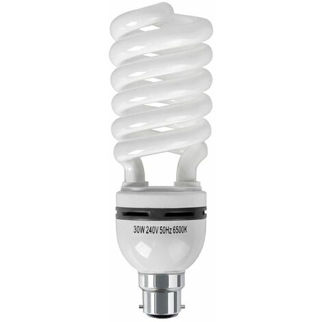 Table Floor Lamp 30W Bc B22 Energy Reducing Daylight Cfl Spiral Bulb